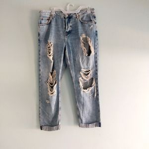 Topshop Moto Hayden Ripped Jeans Size W30